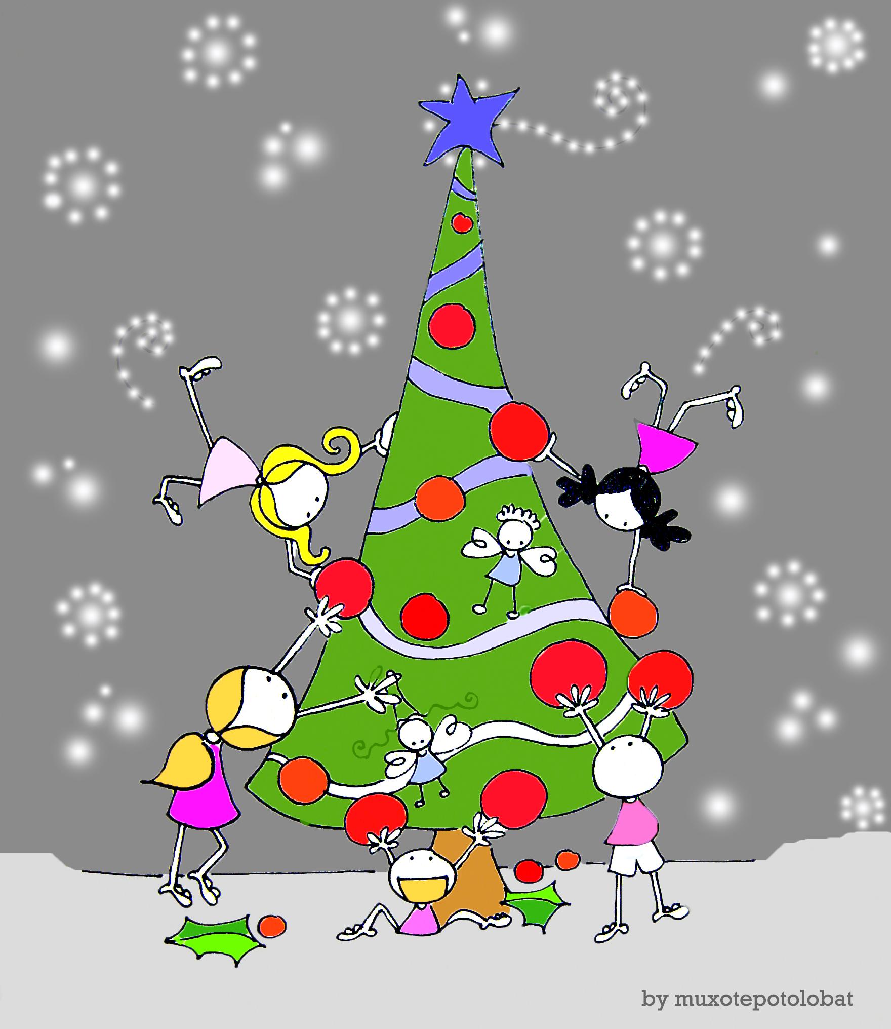 Team work (Christmas tree) - Muxote Potolo bat