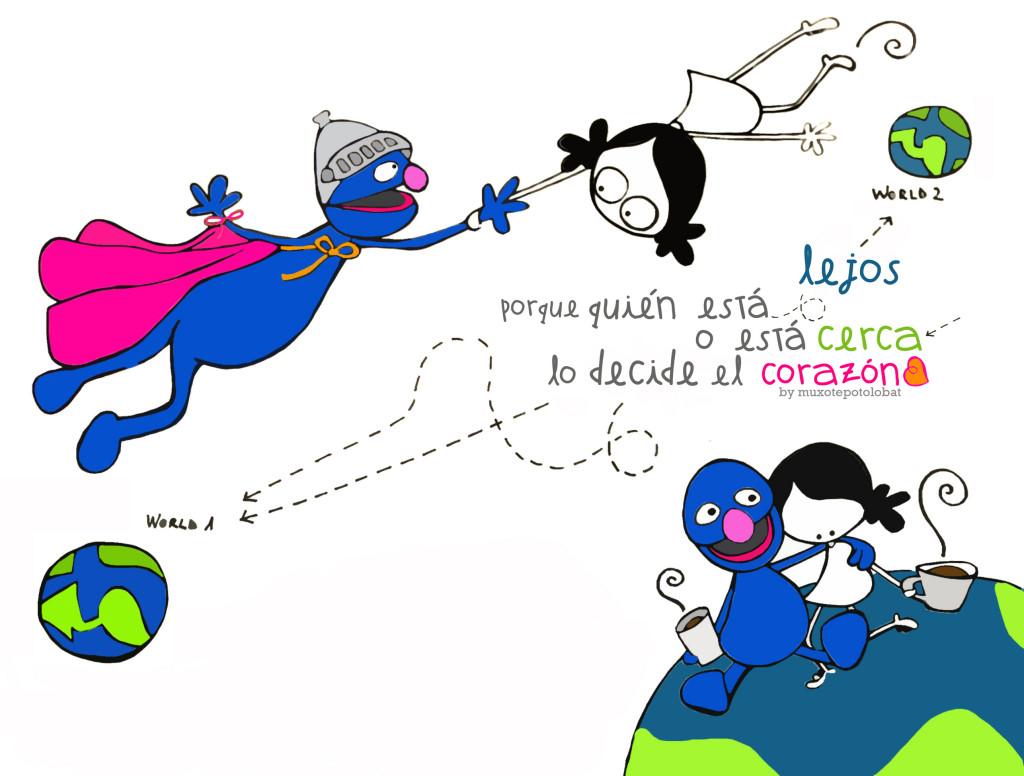 Gertu eta urruti/Cerca y lejos (diálogos de Muxote y Coco II)/So far so close (conversations between Muxote and Grover II)