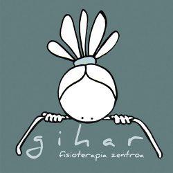 GIHAR, centro de fisioterapia (logotipo y decoración de espacio)